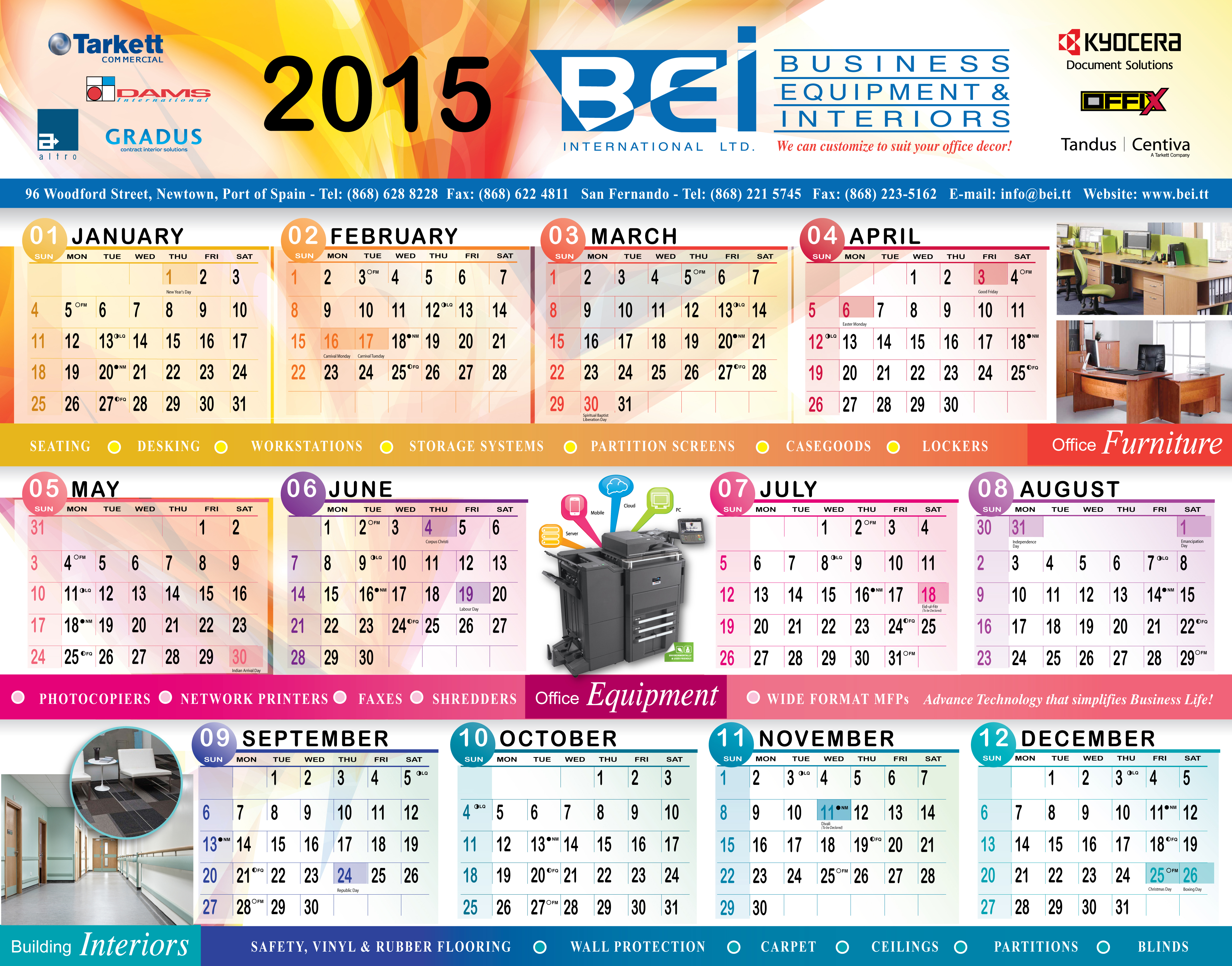 bei 2015 wall planner